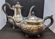 Beautiful Vintage Sterling Silver Tea And Coffee Pot Set - Eagle Finial And Spouts