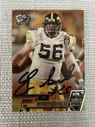 Eric Steinback 2002 Press Pass Autographed Signed Auto Football Card 36 Steelers