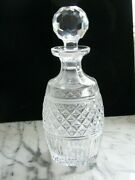 Waterford Vintage 11 Crystal Clear Bottle Decanter Hand Cut Crystal Bottle