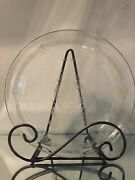 """Vintage Fire King Philbe Clear Glass Pie Plate Baking Dish 8"""""""
