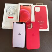 Iphone 12 Mini 128gb Red And Apple Magsafe Silicone Case Screen Protector Unlocked