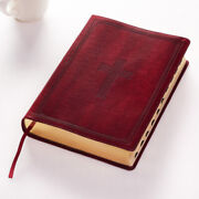 Kjv Super Giant Print Red Letters With Thumb-indexing Burgundy [large Print]