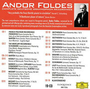 Andor Foldes Complete Deutsche Grammophon Recordings By Andor Foldes Neuf