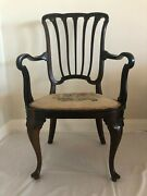 Antique Elegant Queen Anne Solid Wood Chair 1 Family 75+yrs Great Condition