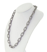 Featuring Pave Set White Round Cut 91.36ct Sparkling Cz Oval Link Rare Necklace