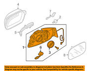 Audi Oem Door Side Rear View Mirror-housing Or Cap / Cover Right 8r1857410ant94