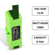14.4v 6400mah Battery Compatible With Irobot Roomba 500 600 700 800 Series