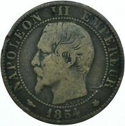 1854 / 5 Centimes - Napoleon Iii. - France Very Nice Collectible Coin Wt28011