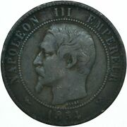 Coin / 1854 France / 10 Centimes Collectible Coin  Wt28016