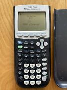 Texas Instruments Ti-84 Plus Graphing Calculator Black Clean Tested Working
