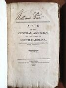 1791-1804 Acts General Assembly South Carolina Slavery William Rice Columbia Sc