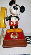 Vintage 1976 Disney Mickey Mouse Phone Rotary Dial Telephone