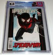 Marvel Previews 95 Cgc Universal Grade Comic 8.0 1st Miles Morales Cover Image