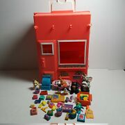 Vtg 90s 1992 Littlest Pet Shop Playset Carrying Case And Accessories Animals
