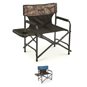 Oversized Director's Camping Chair Picnics Outdoors Side Table 500-lb Capacity
