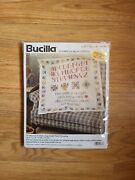 Bucilla Traditional Sampler Lap Quilt/wall Hanging Stamped Cross Stitch Kit
