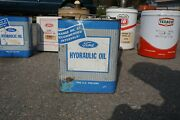 Vintage Ford Tractor Hydraulic Oil 2 Gal Metal Two Gallon Antique Tin Sign Can