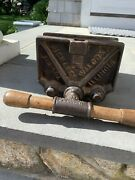 Vintage Richard Wilcox., Wood Working Bench Vise, Clamp, Heavy, Antique