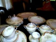 Antique 8 Place Setting Of Noritake Fine China Made In Japan 57 Pieces Total