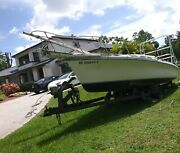 24 Foot Sailboat With Trailer Inboard Engine Removed Good Hull Clear Title