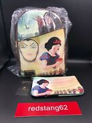 Loungefly Disney Snow White Pink A La Mode Dec Re-release Backpack And Pouch Set