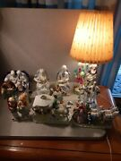 Lot 10 Vintage Porcelain Some Made In Occupied Japan Figurines And A Lamp