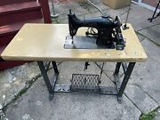 Singer 95-10, Commercial Sewing Machine Leather Cloth Fashion Complete Set +=