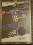 2018 Lamar Jackson Rookie Absolute New Comers Game Worn Jersey Nc-lj