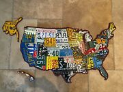 Usa License Plate Map - Vintage License Plates From The 50and039s 60and039s And 70and039s