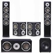 Klh Kendall 5.1 Complete System Black With Klh Stratton 10 Powered Subwoofer -