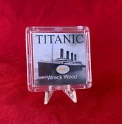 Rms Titanic Wreck Wood Relic W/ Coa And Stand - White Star Line Shipwreck Artifact