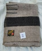 Antique Wool Blanket Grey Trapper Point Eaton Made In England   4 Point