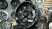 Neuf 4x20 Inch 6x135 9j Et0 Bmf Roues Noir Offroad Alloys Pour Lincoln Ford F150