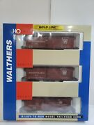 Ho Scale Walthers Gold Line Pennsylvania Express Schemes Box Car 3 Pack 932-9023