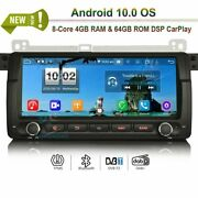 Android 10.0 Bt Car Radio Wifi Gps Sat Navi For Bmw 3 Series M3 Mg Zt Rover 75