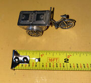 Vintage Sterling Silver 800 Miniature Food Cart With Bicycle .96 Ounces