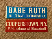 Babe Ruth Hall Of Fame - Cooperstown Ny Birthplace Of Baseball Bumper Stickers
