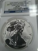 2013 W Pf69 Reverse Proof Silver Eagle Ngc Early Releases Free Shipping
