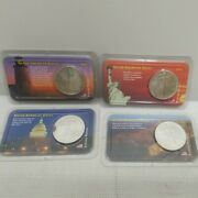 Lot Of 4 1 American Silver Eagle 1 Oz 999 Gem Uncirculated In Littleton Package