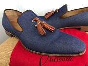 Auth Christian Louboutin Dandelion Mens Shoes 41.5 Eu Us 8.5 Made In Italy