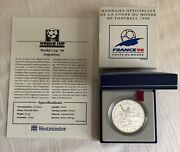 1997 France Football World Cup 98 10 Franc Silver Proof Coin, Argentina