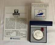 1997 France Football World Cup 98 10 Franc Silver Proof Coin, Germany