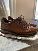 Prada Leather Lace Up Fashion Sneakers Italy Made Size 37.5