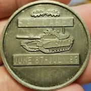 ✔ Rare Army Challenge Coin Military Medal 4th Tank Battalion Sergeant Engraved