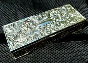 Silver Antique Style Jewelry Box With Floral Design Vintage Design By Godinger