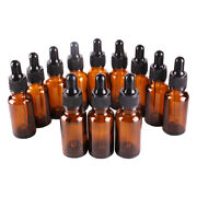 2oz Amber Glass Bottles For Essential Oils With Glass Eye Dropper - Pack Of 20