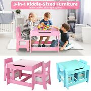 Kids Table And Chairs Set Toddler Child Wooden Toy Activity Desk Sets