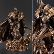 Bronze Wow Arthas Menethil 6and039and039 Statue Model Figure Collectible Display