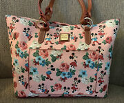 New Disney Dooney And Bourke Mickey And Minnie Mouse Dapper Days Tote Bag Purse