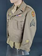 Ww2 Tank Destroyer Uniform With Theater Made Disc And Laundry Number